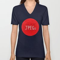 Look At My JPEGs Unisex V-Neck