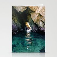 Colorful Ocean Cave Stationery Cards