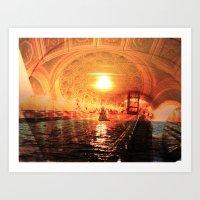 sailing architecture Art Print