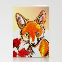 Fox in Sunset Stationery Cards