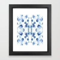 Mirror Dye Blue Framed Art Print