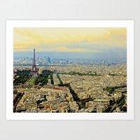 Above Paris Art Print