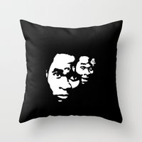 Freaky Faces Throw Pillow