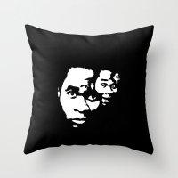 Freaky Faces Throw Pillow
