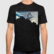 My Neighbor Mens Fitted Tee Tri-Black SMALL