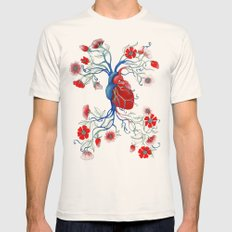 Romantic Anatomy Mens Fitted Tee Natural SMALL
