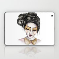 Golden Eyes // Fashion I… Laptop & iPad Skin