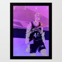 Seattle Reign Man Art Print
