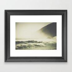 Into the waves III Framed Art Print
