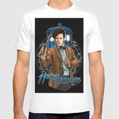11th Heaven Doctor Who White Mens Fitted Tee SMALL