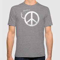 Peace, yo Mens Fitted Tee Tri-Grey SMALL