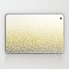Gradient yellow and white swirls doodles Laptop & iPad Skin