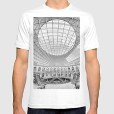 The Corn Exchange Interior In Monochrome SMALL White Mens Fitted Tee
