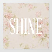 Canvas Print featuring Shine Floral  by Shannon Sutton
