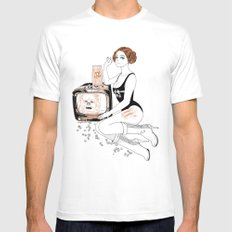 leia Mens Fitted Tee White SMALL