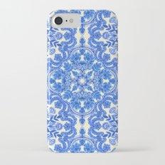 Cobalt Blue & China White Folk Art Pattern Slim Case iPhone 7