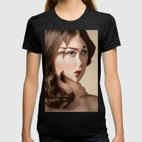Another Portrait Disaster · W1 Womens Fitted Tee Tri-Black SMALL