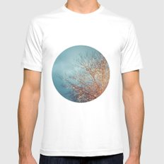 December Lights Mens Fitted Tee White SMALL