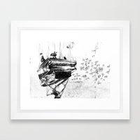 Piano Death Framed Art Print