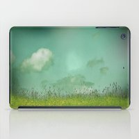 Daydreaming in the meadow - textured photography iPad Case