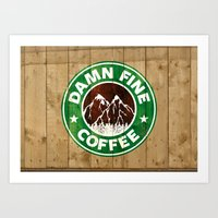 Damn Fine Coffee Art Print