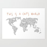 This is a Cat's World Art Print