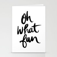 OH WHAT FUN Stationery Cards