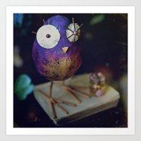 Kn-owl-edge Art Print