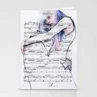Waiting Place On Music S… Stationery Cards