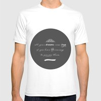 All Your Dreams Mens Fitted Tee White SMALL