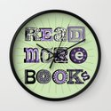 Read More Books Wall Clock