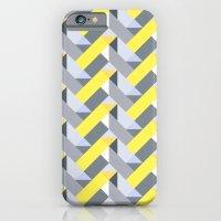 iPhone & iPod Case featuring Herringbone geometric yellow by Katy Clemmans