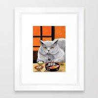 Sushi Cat- Big Fred  Framed Art Print
