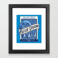 Blue Doom Framed Art Print