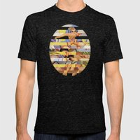 Glitch Pin-Up Redux: Courtney Mens Fitted Tee Tri-Black SMALL