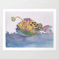 rem fish Art Print