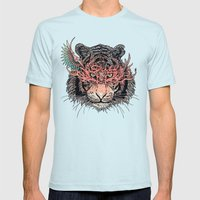 Masked Tiger Mens Fitted Tee Light Blue SMALL