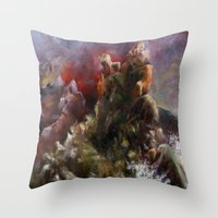 dalgalı deniz Throw Pillow