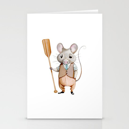 Ratty Stationery Card