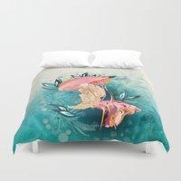 Jellyfish tangling Duvet Cover