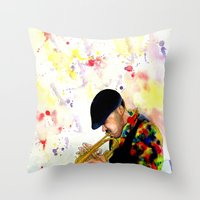 The Colors of Jazz Throw Pillow