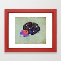 Cosmic Chip Cookie  Framed Art Print