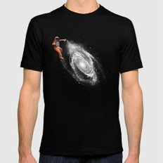 Space Art MEDIUM Black Mens Fitted Tee