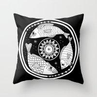 Magic Fish I Throw Pillow