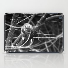Squirrel in Black and White iPad Case