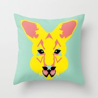 Skippy The Bush Kangaroo Throw Pillow