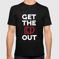 Get The Led Out Mens Fitted Tee Tri-Black SMALL