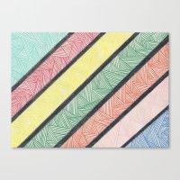 Complex Strips Canvas Print