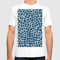 British Mosaic Navy And … Mens Fitted Tee White SMALL