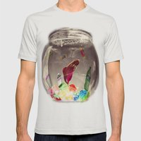 Swim in Color Mens Fitted Tee Silver SMALL